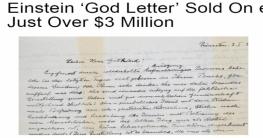 ৩ মিলিয়ন ডলারে বিক্রি আইনস্টাইনের চিঠিতে যা আছে