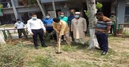 কুমারখালীতে বঙ্গবন্ধুর ম্যুরাল নির্মাণ কাজের উদ্বোধন