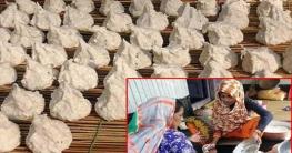 মিরপুরে চলছে কুমড়া বড়ি তৈরির উৎসব